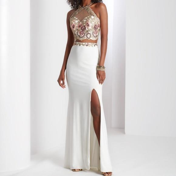 8839848cd CLARISSE Dresses | 3536 2 Pc Skirt Set Ivory Multi 325 | Poshmark